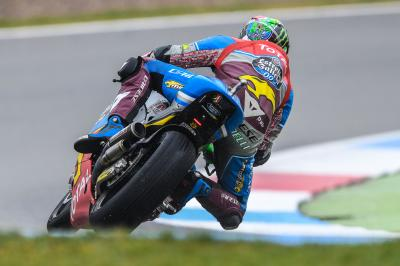 Morbidelli and Marquez home and dry in wet FP3