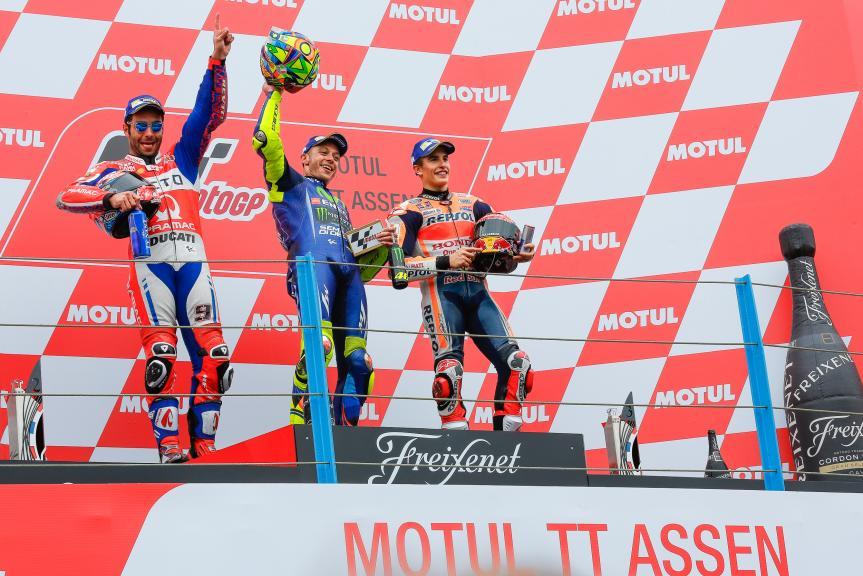 Valentino Rossi, Danilo Petrucci, Marc Marquez, Motul TT Assen
