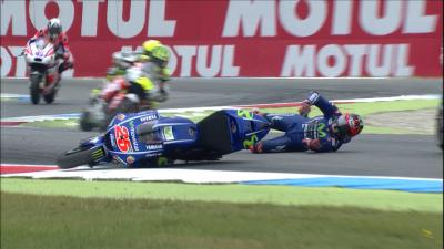 Watch: Viñales spectacularly crashes out at Assen