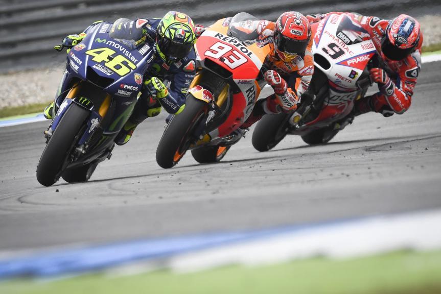 Valentino Rossi, Marc Marquez, Danilo Petrucci, Motul TT Assen