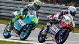 Some of the best overtaking moves from the Moto2 & Moto3 #DutchGP races.  1. Andrea Migno (Moto3) 63 points 2. Nakarin Atiratphuvapat (Moto3) 54 points 3. Jules Danilo (Moto3) 50 points 4. Hafizh Syahrin (Moto2) 50 points 5. John McPhee (Moto3) 46 points