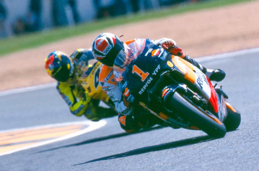 Alex Criville and Valentino Rossi