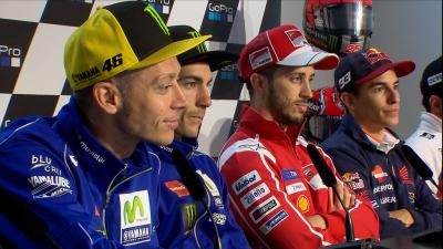 Dovi, Marquez and Rossi discuss dashboard messages for 2018