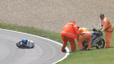 Le terrible highside de Martín lors des FP2 du #GermanGP