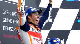 A thrilling race saw Marc Marquez taking the chequered flag ahead of a debut podium for Jonas Folger, with Pedrosa completing the Top 3