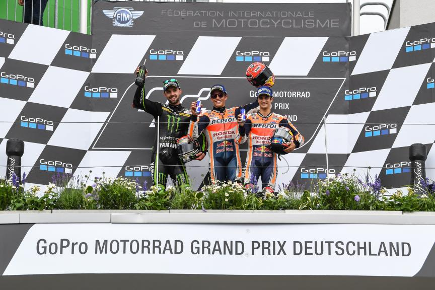 Marc Marquez, Jonas Folger, Dani Pedrosa, GoPro Motorrad Grand Prix Deutschland
