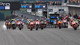 All the action from the full race session of the MotoGP™ World Championship at the #GermanGP.