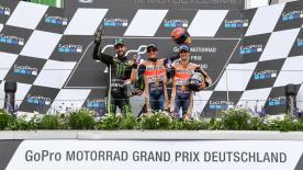 Whilst Marquez took his eighth successive Sachsenring victory, all eyes were on hometown hero Jonas Folger, who finished second