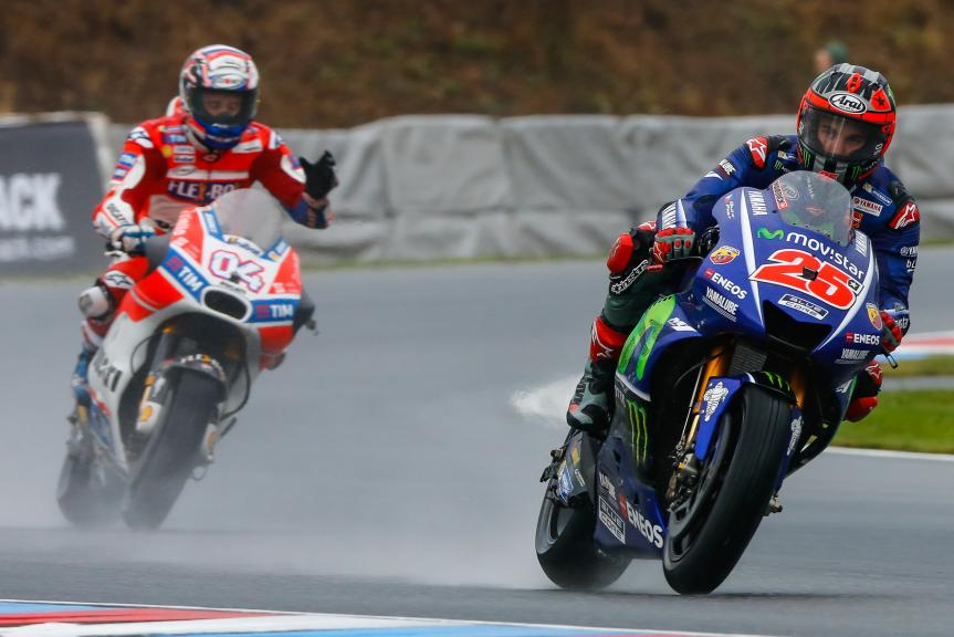 Maverick Vinales, Movistar Yamaha MotoGP, Andrea Dovizioso, Ducati Team, Monster Energy Grand Prix České republiky