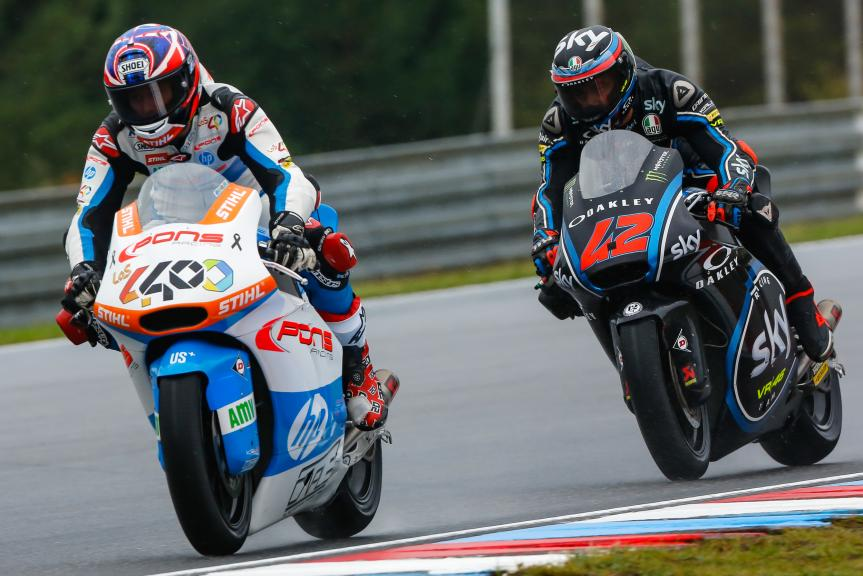 Fabio Quartararo, Pons HP40, Francesco Bagnaia, Sky Racing Team VR46, Monster Energy Grand Prix České republiky