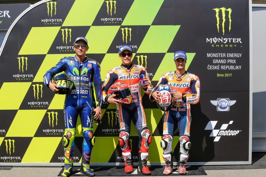 Marc Marquez, Valentino Rossi, Dani Pedrosa, Monster Energy Grand Prix České republiky
