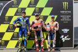 Marc Marquez, Valentino Rossi, Dani Pedrosa, Monster Energy Grand Prix České republiky