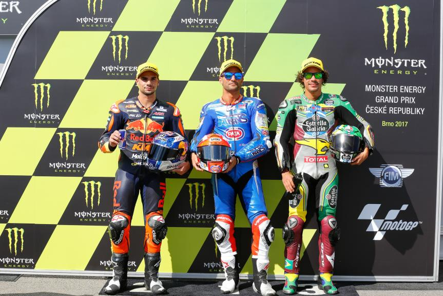 Mattia Pasini, Miguel Oliveira, Franco Morbidelli, Monster Energy Grand Prix České republiky