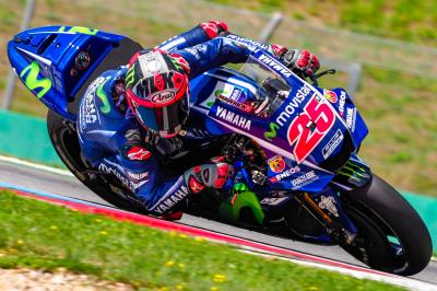 Viñales happy with new fairing