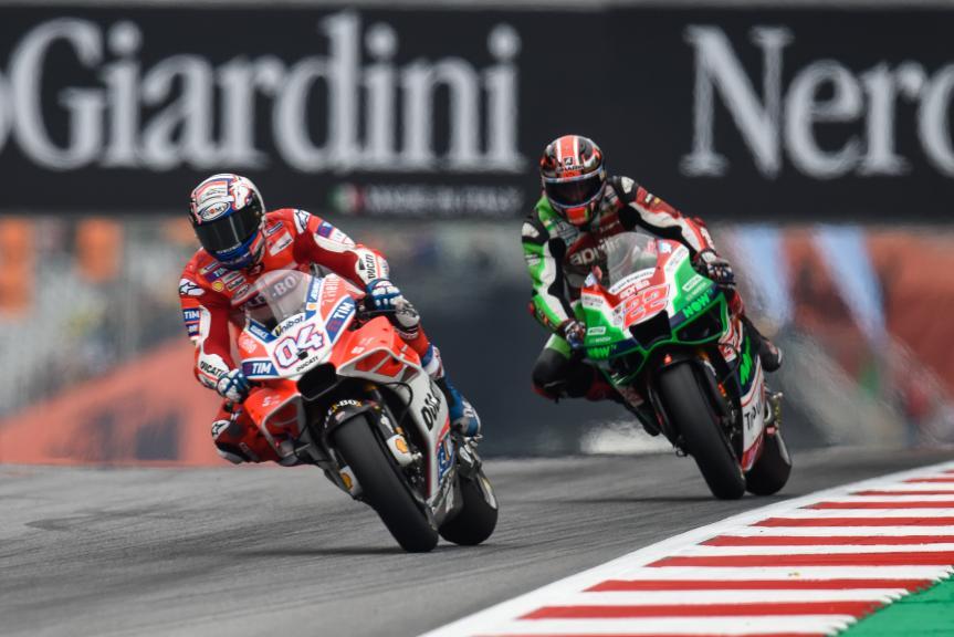 Andrea Dovizioso, Ducati Team, Sam Lowes, Aprilia Racing Team Gresini, NeroGiardini Motorrad Grand Prix von Österreich