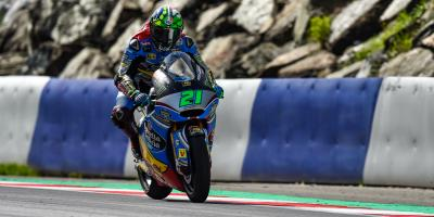 Morbidelli heads Lüthi as rain interrupts play in Spielberg