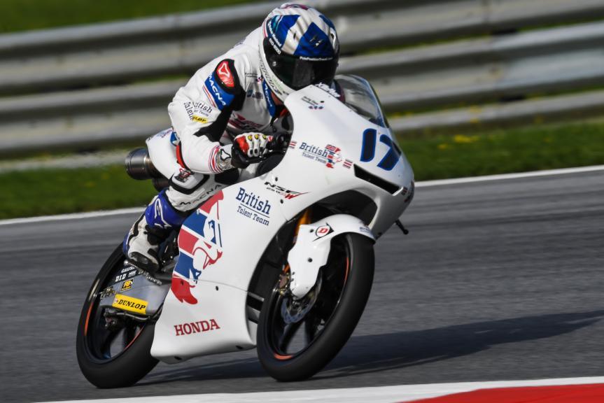 John Mcphee, British Talent Team, NeroGiardini Motorrad Grand Prix von Österreich