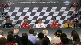 Los pilotos más rápidos de MotoGP™ comentan sus resultados con los medios de comunicación.