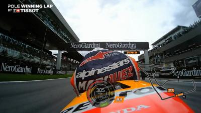 Marquez's pole-winning lap