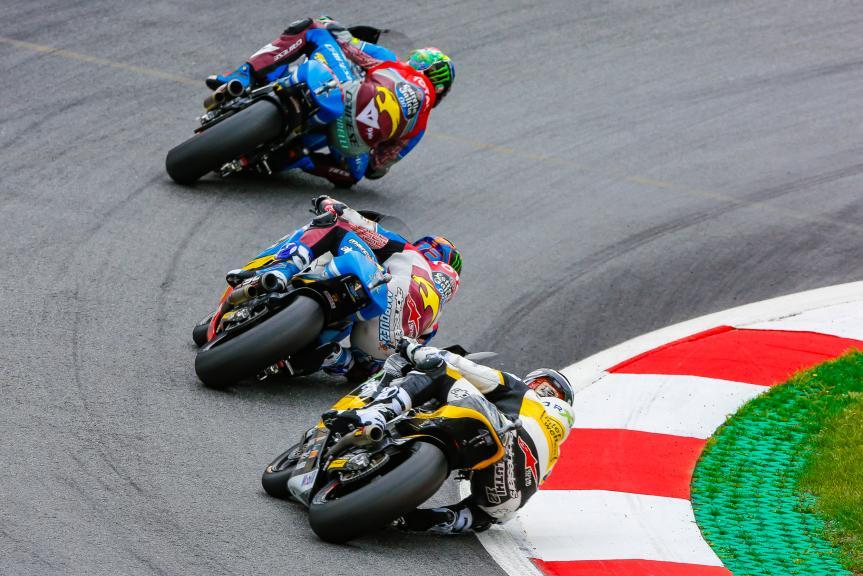 Thomas Luthi, Franco Morbidelli, Alex Marquez, NeroGiardini Motorrad Grand Prix von Österreich