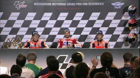 Les trois premiers de l' #AustrianGP se sont confiés aux médias durant la conférence de presse post-gp.