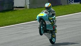 An incredible Moto3™ race saw domination from Joan Mir to take victory, ahead of Oettl and Martin