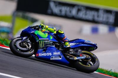 Rossi: 'Schwierig Bike unter Kontrolle zu halten'