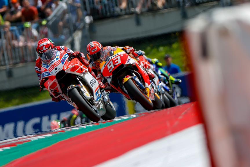 Jorge Lorenzo, Marc Marquez, NeroGiardini Motorrad Grand Prix von Österreich