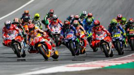 All the action from the full race session of the MotoGP? World Championship at the #AustrianGP.