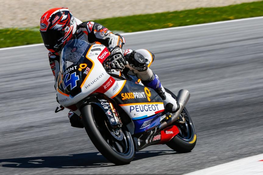Patrik Pulkkinen, Peugeot MC Saxoprint, Austrian Official Test, Moto2 - Moto3