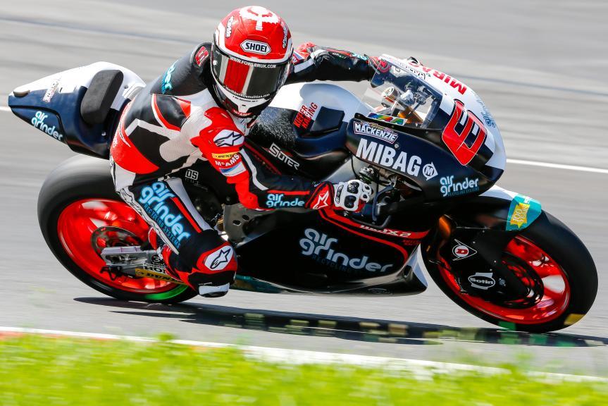 Tarran Mackenzie, Kiefer Racing, Austrian Official Test, Moto2 - Moto3