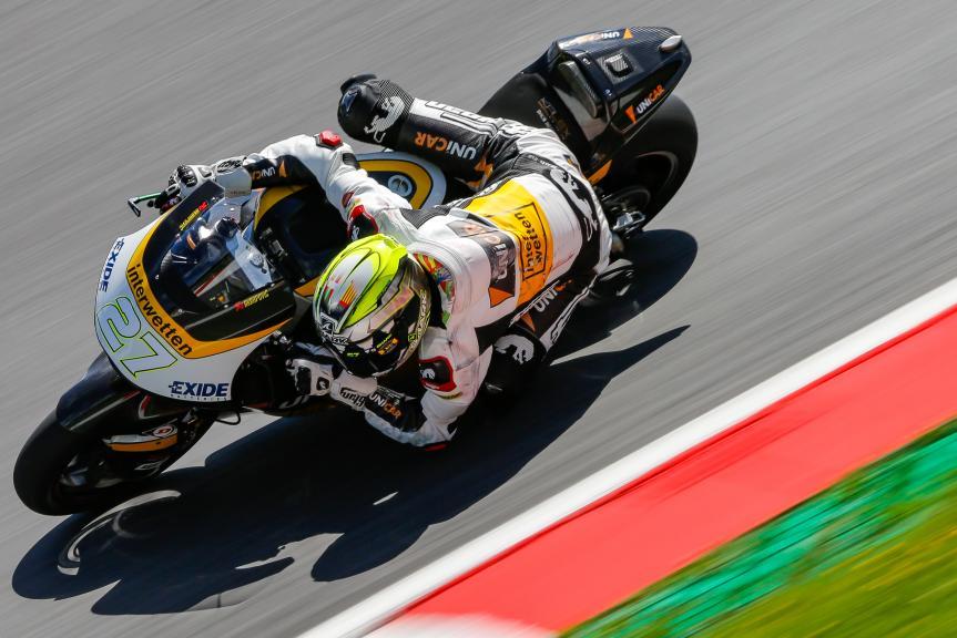 Iker Lecuona, Garage Plus Interwetten, Austrian Official Test, Moto2 - Moto3