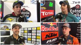 トーマス・ルティ、フランコ・モルビデッリ、ブラッド・ビンダー、アレックス・マルケス、チャビ・ビエルゲ、マティア・パシーニ、ドミニケ・エガーター、ミゲール・オリベイラ、ルカ・マリーニがオフィシャルテストを振り返った。