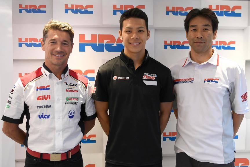 Nakagami at LCR Honda 2018