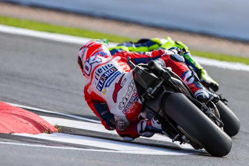 Valentino Rossi, Movistar Yamaha MotoGP, Andrea Dovizioso, Ducati Team, Octo British Grand Prix