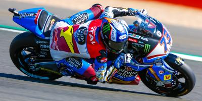 Alex Marquez leads the battle in Britain