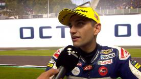 The Del Conca Gresini Moto3 rider says that he was at the best part of the race when it was red flagged due an accident