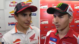 MotoGP™ riders give us feedback on their race results at the #BritishGP.