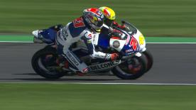 第12戦イギリスGPの中量級と軽量級からパッシングシーンを選出。  1. Andrea Migno (Moto3) 72 points 2. Nakarin Atiratphuvapat (Moto3) 71 points 3. Brad Binder (Moto2) 71 points 4. Hafizh Syahrin (Moto2) 67 points 5. Jules Danilo (Moto3) 66 points