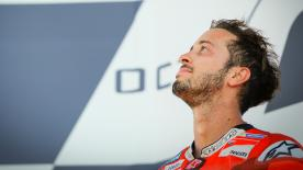 Andrea Dovizioso took his fourth win of the season at Silverstone, narrowly beating Maverick Viñales and Valentino Rossi