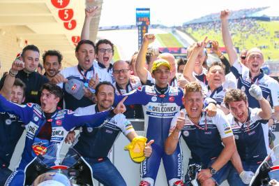 Il team Gresini Moto3™ torna a casa