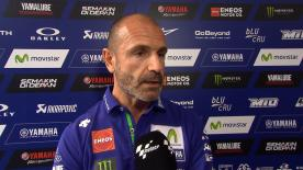 Movistar Yamaha MotoGP Team Director Massimo Meregalli says the squad are considering some options and will make an announcement on Monday