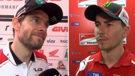 The fastest MotoGP™ riders of the day give us feedback on the Free Practice sessions at the #SanMarinoGP.