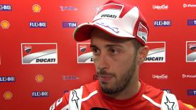 The Ducati Team rider says that they need to change the setup because the weather conditions are cooler than in the July test