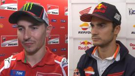 The  MotoGP™ riders give us feedback at the #SanMarinoGP.
