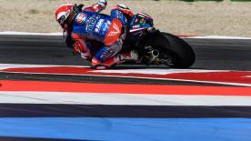 Mattia Pasini hat sich die Pole-Position zum Moto2™-Grand-Prix in San Marino gesichert und blieb vor Morbidelli und Aegerter.