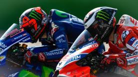Maverick Vinales wird beim #SanMarinoGP von der Pole-Position starten. Dovizioso & Marquez komplettieren Reihe eins.