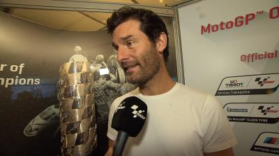 Mark Webber discusses the MotoGP™ season and Rossi's injury