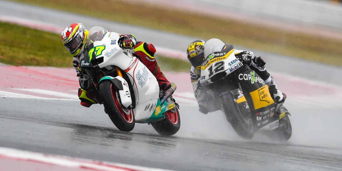 Aegerter majestic at Misano for a stunning wet win | MotoGP™