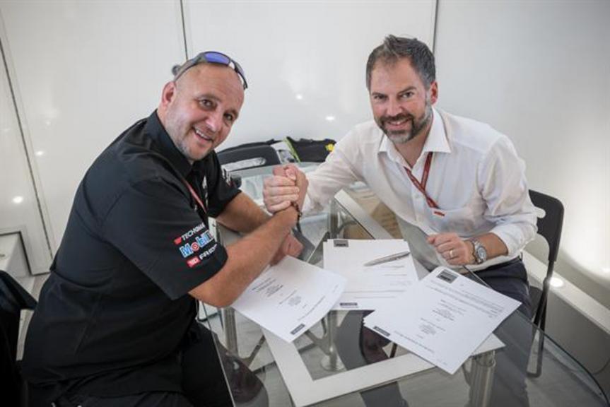 Frédéric Corminboeuf and Jens Hainbach KTM